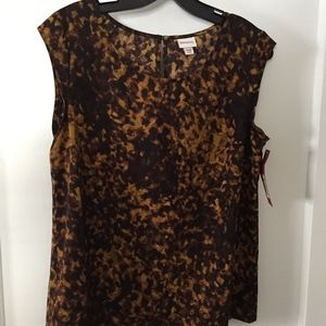 leopard printed top, NWT, size M